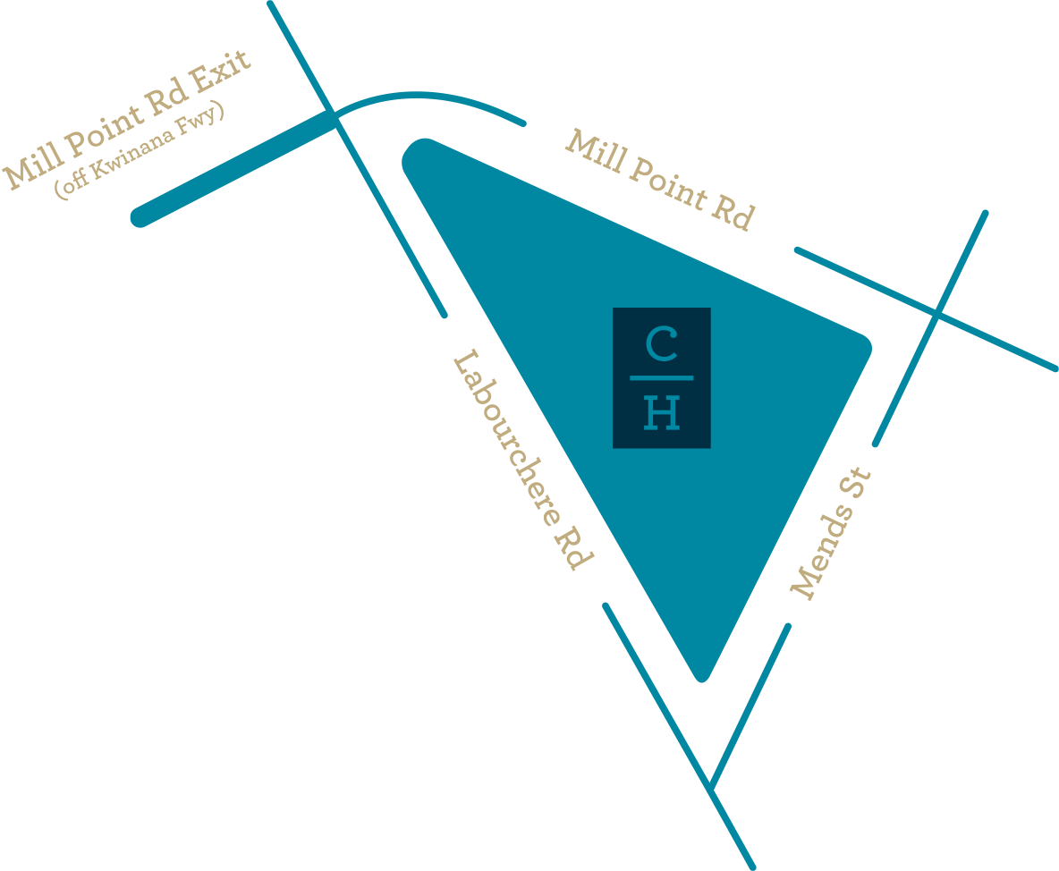 Mud map location of Civic Heart